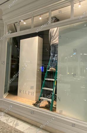 Ralph Lauren store front pictured as Luxury Retailers at Tysons Galleria close early and remove all merchandise from their shops the afternoon of the 2020 Elections and possible riots
