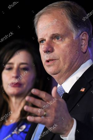 Sen. Doug Jones, D-Alabama, delivers his concession speech, during his election night watch party in Birmingham, Ala. Jones lost to Republican Tommy Tuberville
