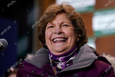 Incumbent U.S. Sen. Jeanne Shaheen (D-N.H.) smiles after claiming victory at a gathering with supporters, in Manchester, N.H. Shaheen faced Republican businessman Corky Messner