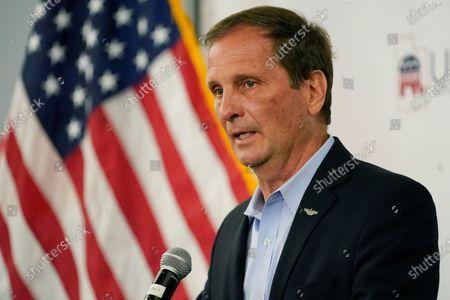 Utah's 2nd District Republican incumbent U.S. Rep. Chris Stewart speaks during an Utah Republican election night party, in Sandy, Utah