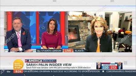 Piers Morgan, Susanna Reid and Sarah Palin