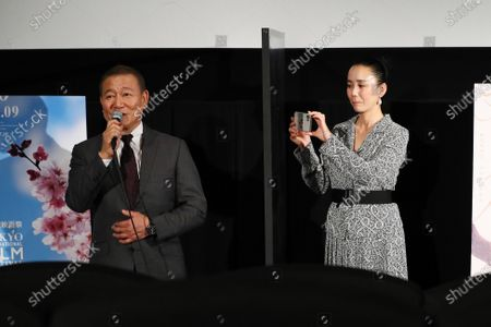 """Jun Kunimura and Naomi Kawase - The 33rd Tokyo International Film Festival. Press conference for the movie """"Tracing Her Shadow"""" in Tokyo, Japan on November 1, 2020."""