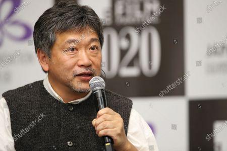 "Stock Picture of Hirokazu Kore-eda - The 33rd Tokyo International Film Festival. ""Asia Lounge"" Conversation Series Co-presented by The Japan Foundation Asia Center & Tokyo International Film Festival in Tokyo, Japan on November 1, 2020."