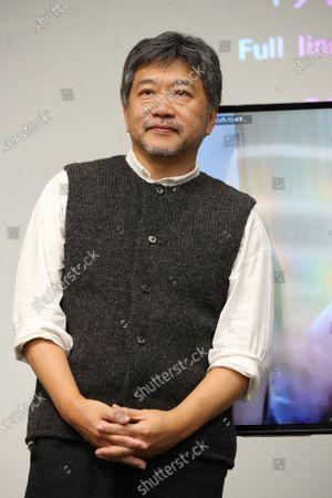 "Hirokazu Kore-eda - The 33rd Tokyo International Film Festival. ""Asia Lounge"" Conversation Series Co-presented by The Japan Foundation Asia Center & Tokyo International Film Festival in Tokyo, Japan on November 1, 2020."