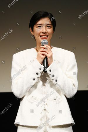 """Yui Sakuma - The 33rd Tokyo International Film Festival. Press conference for the movie """"Eternally Younger Than Those Idiots"""" in Tokyo, Japan on November 1, 2020."""