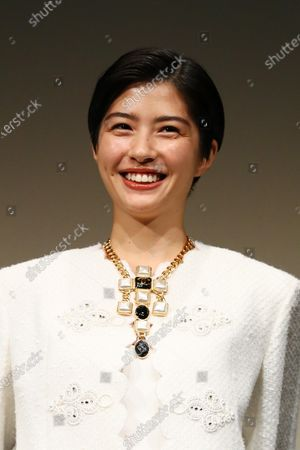 """Stock Image of Yui Sakuma - The 33rd Tokyo International Film Festival. Press conference for the movie """"Eternally Younger Than Those Idiots"""" in Tokyo, Japan on November 1, 2020."""