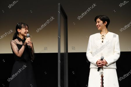 """Nao and Yui Sakuma - The 33rd Tokyo International Film Festival. Press conference for the movie """"Eternally Younger Than Those Idiots"""" in Tokyo, Japan on November 1, 2020."""