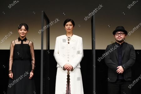 """Stock Picture of Nao, Yui Sakuma and Ryohei Yoshino - The 33rd Tokyo International Film Festival. Press conference for the movie """"Eternally Younger Than Those Idiots"""" in Tokyo, Japan on November 1, 2020."""