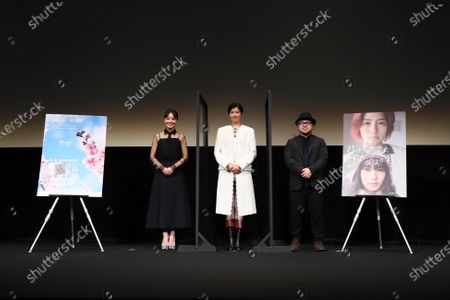 """Stock Photo of Nao, Yui Sakuma and Ryohei Yoshino - The 33rd Tokyo International Film Festival. Press conference for the movie """"Eternally Younger Than Those Idiots"""" in Tokyo, Japan on November 1, 2020."""