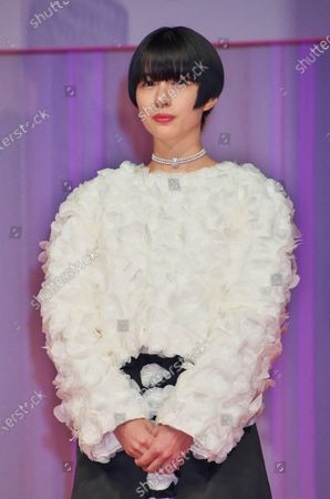 Actress Yui Sakuma attends a opening ceremony for The 33rd Tokyo International Film festival in Tokyo, Japan.