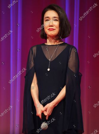 Actress Mariko Tsutsui attends a opening ceremony for The 33rd Tokyo International Film festival in Tokyo, Japan.