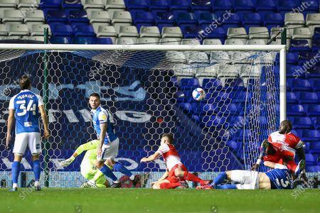 Adebayo Akinfenwa (20) of Wycombe Wanderers tries a shot on goal