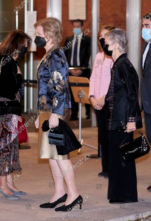 Former Queen Sofia attends the extraordinary concert to benefit the Annual Scholarships for the Extension of Studies Abroad of Musical Youth of Madrid at the National Auditorium in Madrid