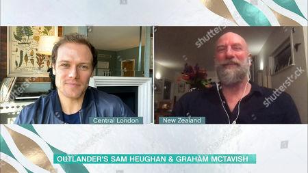 Stock Photo of Sam Heughan and Graham McTavish