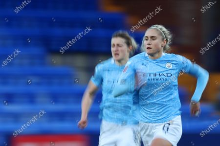 Ellen White of Manchester City Women and Steph Houghton of Manchester City Women