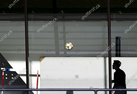 Feyenoord's Nicolai Jorgensen during a training session prior to the UEFA Europa League group K soccer match against CSKA Moscow at Training Complex 1908 in Rotterdam, The Netherlands, 04 November 2020.