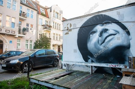 Editorial photo of Graffiti murals in Gdansk, Poland - 3 Nov 2020