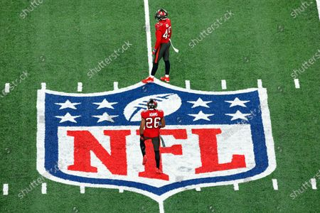Tampa Bay Buccaneers safety Andrew Adams (26) during an NFL football game an\, in East Rutherford, N.J