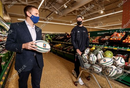 Aldi has announced today the signing of Ireland rugby international James Ryan as an ambassador for the Aldi Play Rugby Programme. James joins Paul O'Connell on the team, with Paul having worked with Aldi since Aldi's partnership of the programme commenced in 2016. James is pictured here with John Curtin, Group Buying Director at Aldi Ireland. James kicked off his role with a socially-distant delivery of Aldi Play Rugby training equipment to Scoil Maelruain, Old Bawn, Tallaght who will be among the primary schools participating in the programme with online support from the IRFU community rugby officers. Today's announcement underpins Aldi's ongoing commitment to and support of the sport of rugby as the Official Fresh Food partner to the IRFU. For more information see www.aldi.ie/playrugby.