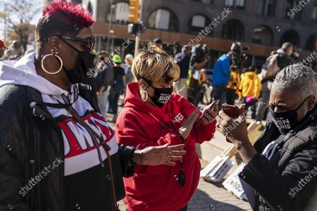 Editorial photo of Election 2020 America Reacts, Detroit, United States - 04 Nov 2020