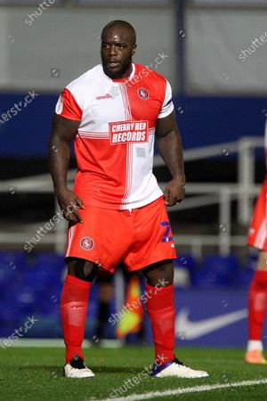 Wycombe Wanderers Adebayo Akinfenwa during the EFL Sky Bet Championship match between Birmingham City and Wycombe Wanderers at the Trillion Trophy Stadium, Birmingham