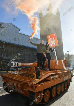 Editorial picture of 'KeepingGymsOpen' demonstration, London, UK - 04 Nov 2020