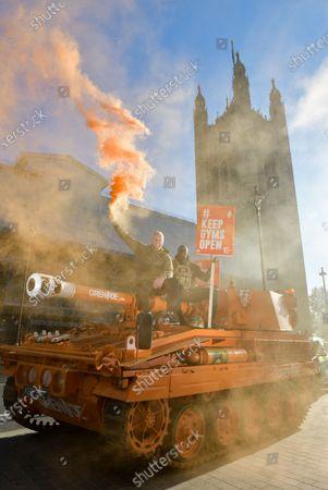 Editorial image of 'KeepingGymsOpen' demonstration, London, UK - 04 Nov 2020