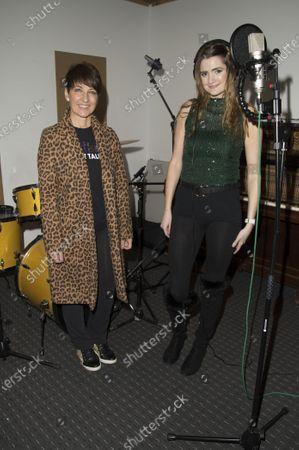 Editorial image of Lauren Lovejoy in studio, Wembley, UK - 03 Nov 2020