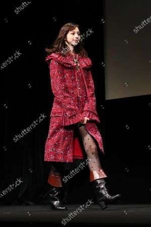 """Stock Image of Ayami Nakajo - The 33rd Tokyo International Film Festival. Press conference for the  movie""""Flight on the Water"""" in Tokyo, Japan on November 4, 2020."""