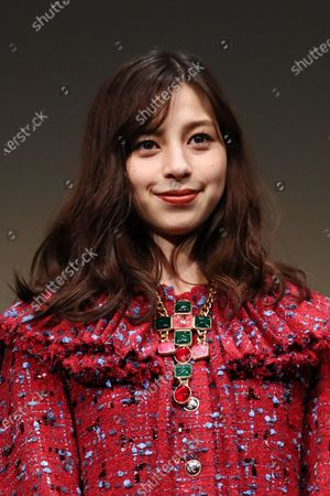"""Stock Photo of Ayami Nakajo - The 33rd Tokyo International Film Festival. Press conference for the  movie""""Flight on the Water"""" in Tokyo, Japan on November 4, 2020."""