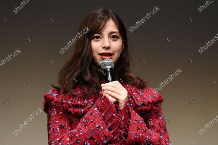 """Stock Picture of Ayami Nakajo - The 33rd Tokyo International Film Festival. Press conference for the  movie""""Flight on the Water"""" in Tokyo, Japan on November 4, 2020."""