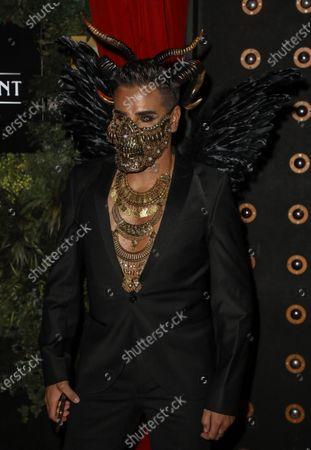 Editorial image of Cabaret All Stars show, Proud Embankment for Halloween, London, UK - 31 Oct 2020