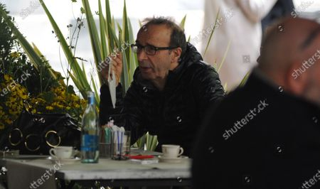 Stock Photo of Roberto Benigni and Nicoletta Braschi are seen going out for lunch.