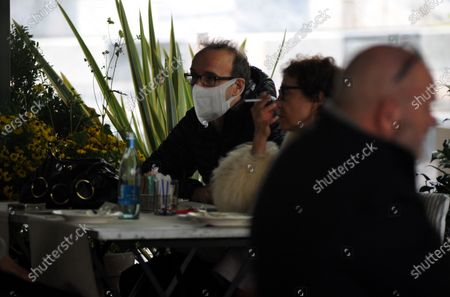 Editorial picture of Roberto Benigni and Nicoletta Braschi out and about, Milan, Italy - 22 Oct 2020
