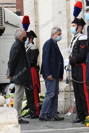 Editorial image of Funeral of Gigi Proietti, Rome, Italy - 05 Nov 2020