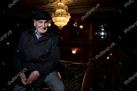 Stock Photo of Argentine actor Hector Alterio poses during an interview with Spanish news agency Efe on the occasion of the presentation of his return to stage with 'Like 3000 Years Ago' at the Infanta Isabel theatre in Madrid, Spain, 05 November 2019. The show will be performed from 06 to 08 November.
