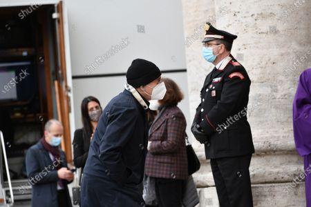 Editorial photo of Funeral of the Italian actor Gigi Proietti, Rome, Italy - 05 Nov 2020