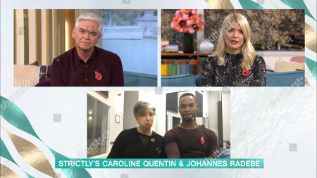 Phillip Schofield, Holly Willoughby, Caroline Quentin, Johannes Radebe