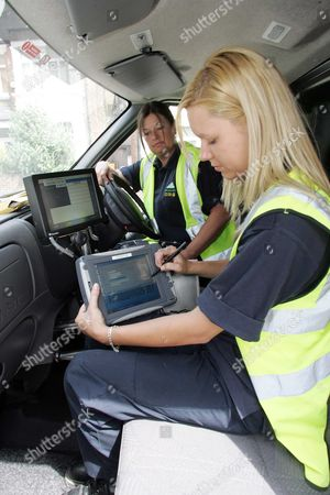 Teams From The Dvla Out On Patrol With Automatic Number Plate Reader ( Anpr ) Cameras Targeting Unlicensed Vehicles. All Women Team Of Lynn Sadler (l) And Alison Fraser Of The South East Area. Picture By Glenn Copus