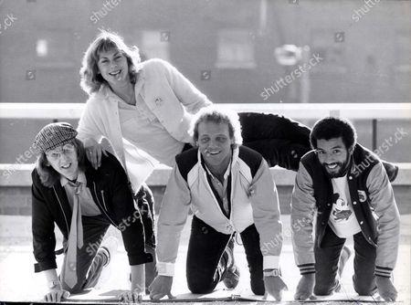 Editorial image of Sharron Davies - Swimmer - 1981 Sharon Davies With L-r: Bob Goody Brian Jacks And Wayne Laryea Picture Desk ** Pkt3773-284034