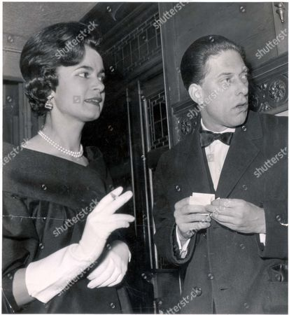 7th Earl Of Harewood And Countess Harewood Pictured At The Theatre.