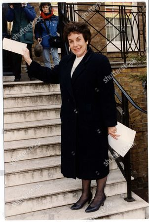 Mp Gillian Shephard Baroness Shephard Of Northwold Delivers A Letter To Labour Party Hq.