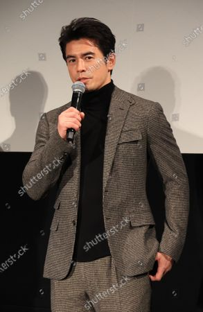 """Stock Photo of Japanese actor Hideaki Ito attends a promotional event of Bandai Spirits' """"Chogokin"""" die-cast metal figures exhibition """"Tamashii Nation 2020"""" in Tokyo on Thursday, November 5, 2020. Japanese toy giant Bandai's subsidiary Bandai Spirits unveiled the new figure collections targeting adult."""