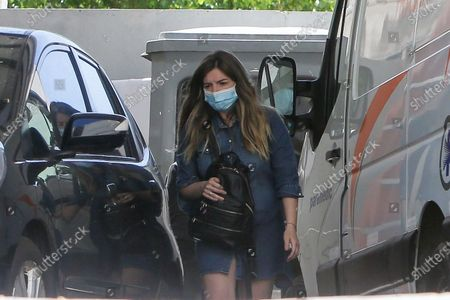 Dalma Maradona, daughter of former Argentinean soccer player Diego Armando Maradona leaves Los Olivos clinic in Buenos Aires, Argentina, 05 November 2020. Maradona has 'really wanted to leave' the hospital where he was admitted last 03 November due to a hematoma on the brain, as explained by his doctor, Leopoldo Luque, who despite saying that his recovery is 'excellent', wanted the star to remain in the clinic until tomorrow.