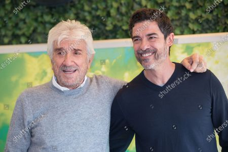"Gigi Proietti with Alessandro Gassmann during the photocall of the film ""Il Premio"""