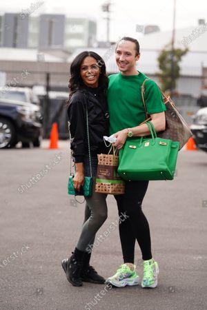 Stock Picture of Johnny Weir and Britt Stewart
