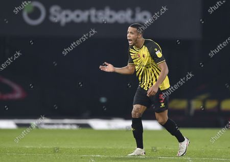 William Troost-Ekong of Watford celebrates after scoring a goal (2-2)