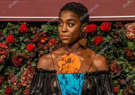 Lashana Lynch poses for photographers at the Theatre Awards in London, Britain, 24 November 2019 (issued 06 November 2020). Lynch has been confirmed to play 007 in the latest installment of the James Bond movie franchise, 'No Time To Die,' becoming the first Black person to take on the iconic role of the fictional secret agent, media reports state on 06 November 2020.