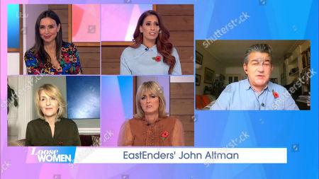 Christine Lampard, Stacey Solomon, Kaye Adams, Jane Moore and John Altman
