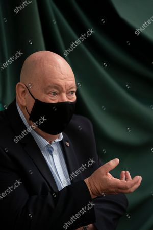 Liverpool mayor Joe Anderson speaks to the media at Liverpool Tennis Centre on the first day of the pilot scheme of mass testing in Liverpool, . Liverpool is the pilot project for possible weekly testing of the entire population covering up to 10 million people across England a day